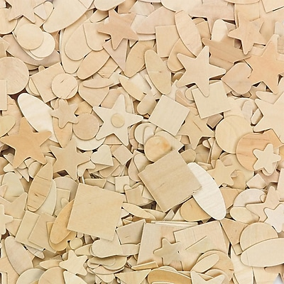 S&S® 7 Designs Wood Shapes, 1000/Pack