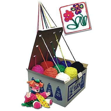 S&S YA896 Multicolor Roving Yarn Dispenser Box, 9/Box