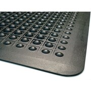 "Guardian Flex Step Polypropylene Anti-fatigue Mat, 60"" x 36"", Black (24030500)"