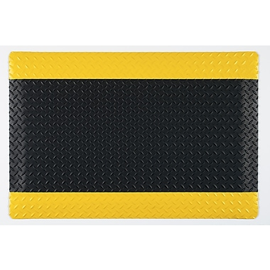 Guardian Safe Step Vinyl Anti-Fatigue Mats, Black/Yellow