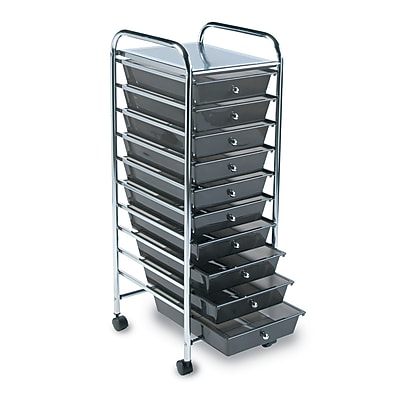 Charming Advantus 10 Drawer Rolling Organizer