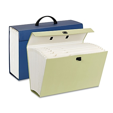 Smead® Legal Portable Expanding Case File, Blue/Green