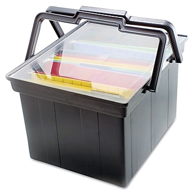 Advantus Letter/Legal Companion Portable File Storage Box, Black