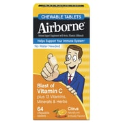 Airborne® Immune Support Supplement Chewable Tablets, Citrus, 64 Pack