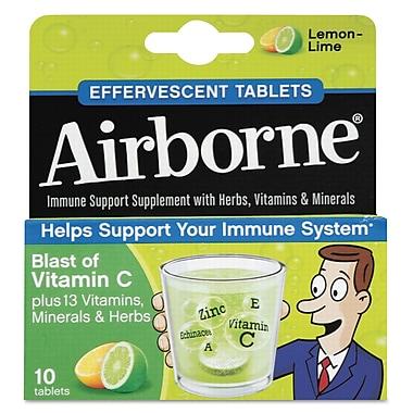 Airborne® Immune Support Effervescent Tablets, Lemon/Lime, 10/Pack
