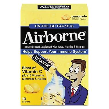 Airborne® On-the-go Immune Support Packet, Lemonade, 10/Pack