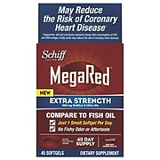 Schiff® MegaRed® Extra Strength Omega-3 Krill Oil Softgels, 500 mg, 45/Pack