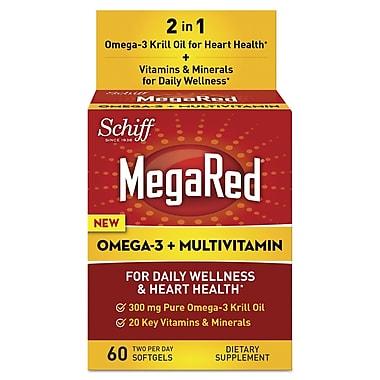 Schiff® MegaRed® Omega-3 Krill Oil + Multivitamin Softgels, 60/Pack