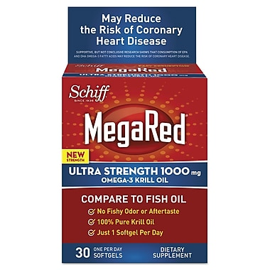 Schiff® MegaRed® Ultra Strength Omega-3 Krill Oil Softgels, 1000 mg, 30/Pack