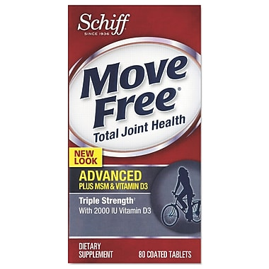 Move Free® Advanced Plus MSM and Vitamin D3 Total Joint Health Tablets, 80/Pack