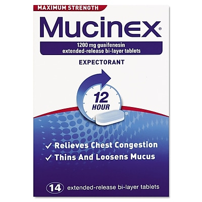 Mucinex Max Strength Expectorant Tablets, 12 Hour