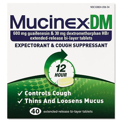 Mucinex DM Expectorant and Cough Suppressant Tablets,