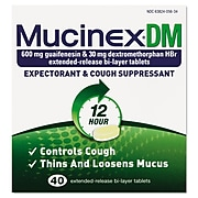 Dm Expectorant And Cough Suppressant, 40 Tablets/Bx