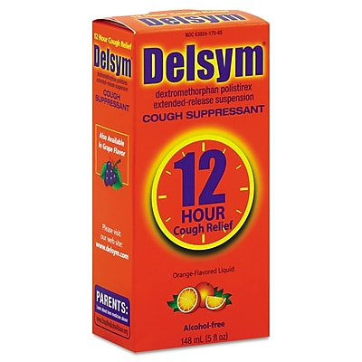 Delsym® Alcohol Free Adult Cough Suppressant, 12 Hour Relief, Orange, 5 oz. Bottle