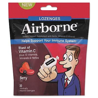 Airborne® Immune Support Supplement Lozenge, Cherry, 20/Pack