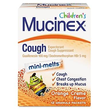 Mucinex® Children's Min-Melts Cough Suppressant, Orange Cream, 12 Packets