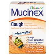Mucinex® Children's Min-Melts Cough Suppressant, Orange Cream, 12 Packets