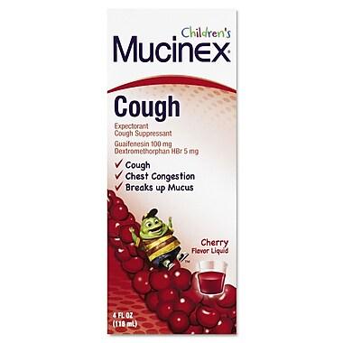 Mucinex® Children's Expectorant Cough Suppressant, Cherry, 4 oz. Bottle