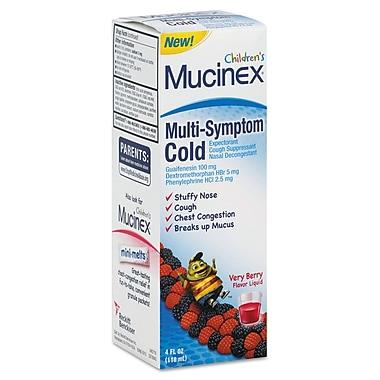 Mucinex® Multi-Symptom Liquid Cold Formula, Very Berry, 4 oz. Bottle