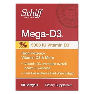 Schiff® Mega Vitamin D3 Softgels, 90/Pack