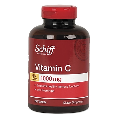 Schiff® Vitamin C With Rose Hips Tablets, 1000 mg, 2/Pack