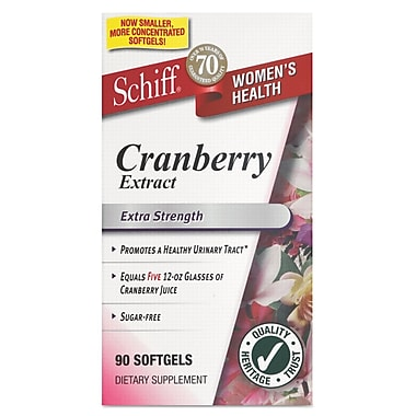 Schiff® Cranberry Extract Softgels, 500mg, 90/Pack