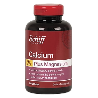 Schiff® Calcium-Magnesium With Vitamin D3 Softgels, 100/Pack