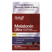 Schiff® Melatonin Ultra Dietary Supplement Tablets, 60 mg, 60/Pack