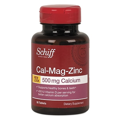 Schiff Guided Minerals Cal Mag Zinc Tablets 90 Pack Staples