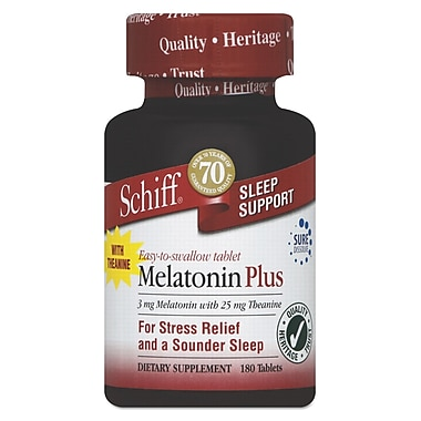 Schiff® Melatonin Plus Tablets, 180/Pack