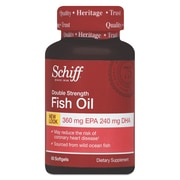 Schiff® Double Strength Omega-3 Fish Oil Softgels, 1000 mg, 60/Pack