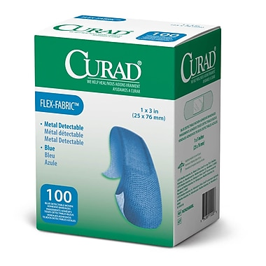 Medline® Curad® Flex-Fabric™ 1200/Pack Blue Food Service Adhesive Bandages