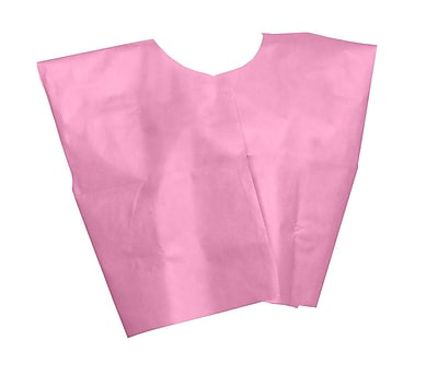 Medline® Disposable Multi Layer Patient Cape, Regular/Large, Pink