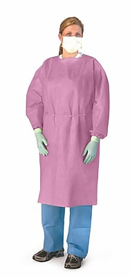 Medline® Medium Weight Multi-Ply Fluid Resistant Isolation Gown, Pink, Regular/Large