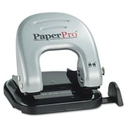 PaperPro® 20-Sheet Traditional Two-Hole Manual Punch, Black/Silver