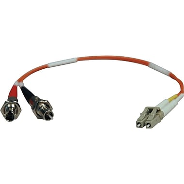 Tripp Lite 1' Duplex MMF LCM to STF Adapter Cable, Orange