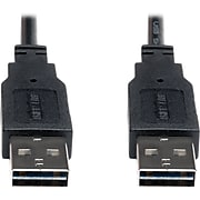 Tripp Lite 3' USB 2.0 Male to Male Universal Reversible Connector Cable, Black
