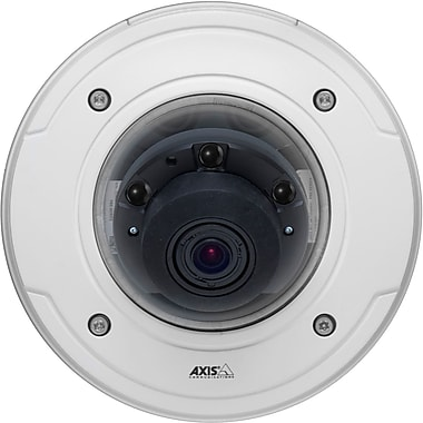 AxisMD – Caméra réseau à dôme fixe contre le vandalisme P3364-Lv, 12 mm, 1 Mpx avec illumination infrarouge