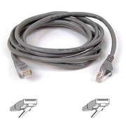 Belkin™ 4' Cat5e RJ45/RJ45 Snagless Duplex Patch Cable, Gray