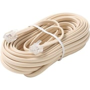 STEREN® 100' 6-Wire Premium Telephone Line Cable, Ivory