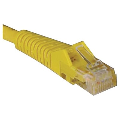Tripp Lite® 50' Cat5e RJ45 Male/Male 350MHz Snagless Molded Patch Cable, Yellow