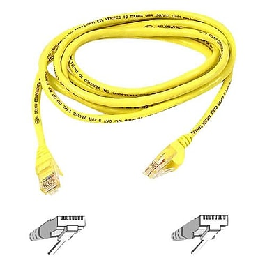 Belkin A3L980-07-YLW-S 7' CAT-6 RJ-45 Patch Cable, Yellow (A3L980-07-YLW-S )