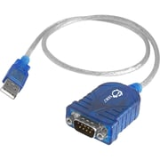 "Siig® 25"" USB to Serial Adapter Cable, Blue"