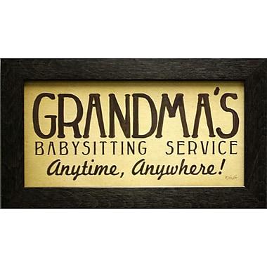 Grandma's Babysitting, toile encadrée, 6 x 12 po