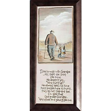 Walking With Grandpa, Framed, 8