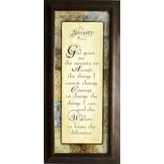 "Serenity Prayer, Framed, 8"" x 20"""