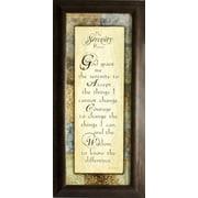 "Serenity Prayer, Framed, 8"" x 20"""