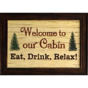 "Welcome To Our Cabin, Framed, 12"" x 18"""