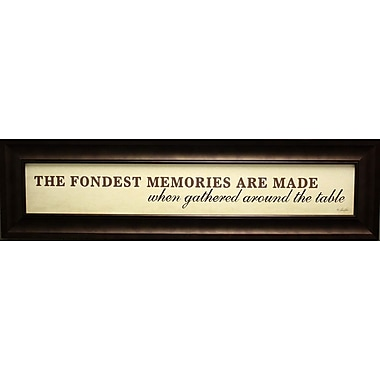 The Fondest Memories, Framed, 6