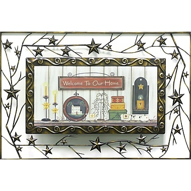 Welcome To Our Home, Metal, Framed, 9